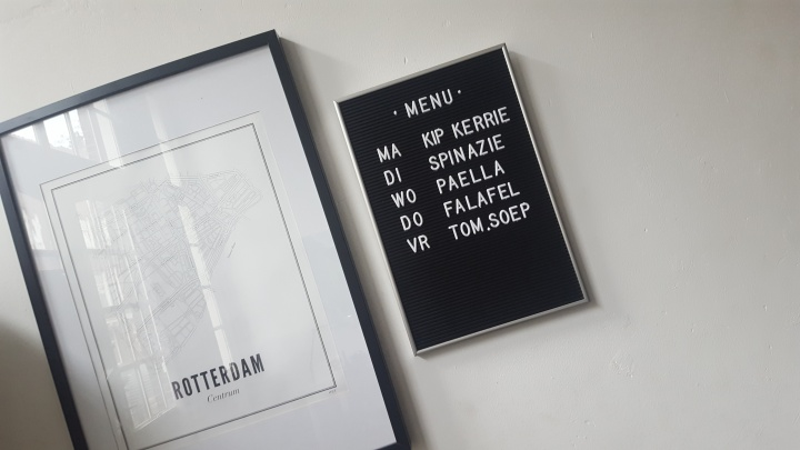 Weekmenu op het LetterBoard
